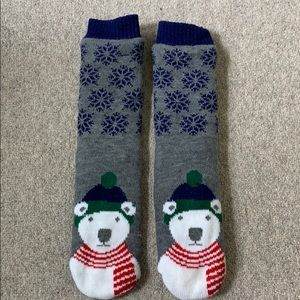 Cozy polar bear slippers